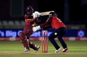 West Indies' Deandra Dottin in action.