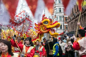 A dragon during Chinese new year celebrations