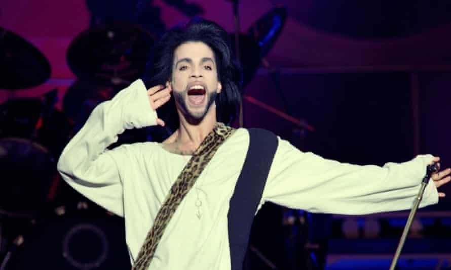 Prince performs at the Parc des Princes stadium in Paris, 21 April 2016.