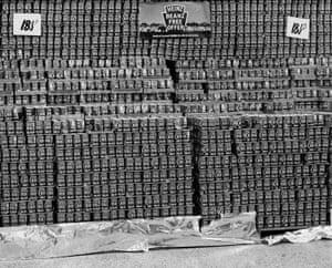 Supermarket display, North Shields, Tyneside, 1981