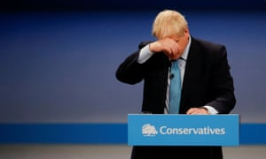 Conservative Party annual conference in Manchester<br>Britain's Prime Minister Boris Johnson reacts as he gives a closing speech at the Conservative Party annual conference in Manchester, Britain, October 2, 2019.  REUTERS/Phil Noble     TPX IMAGES OF THE DAY