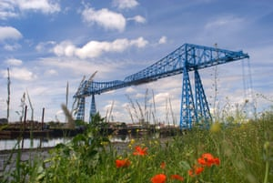 The Tees Transporter Bridge, Middlesbrough.