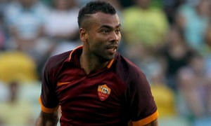 Roma's defender Ashley Cole during the pre-season friendly at Sporting .