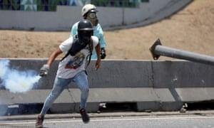 Rally against Venezuela's president Maduro