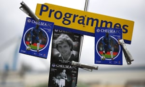 Matchday programmes for sale.