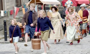 Teddie-Rose Malleson-Allen, left, as Tatty in the new version of Swallows and Amazons