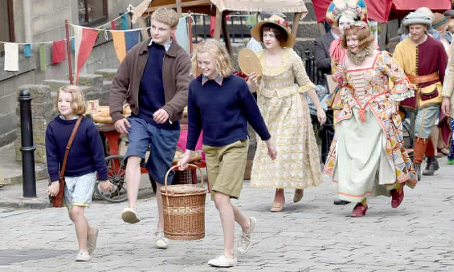 Teddie-Rose Malleson-Allen, left, as Tatty in the new film of Swallows and Amazons.