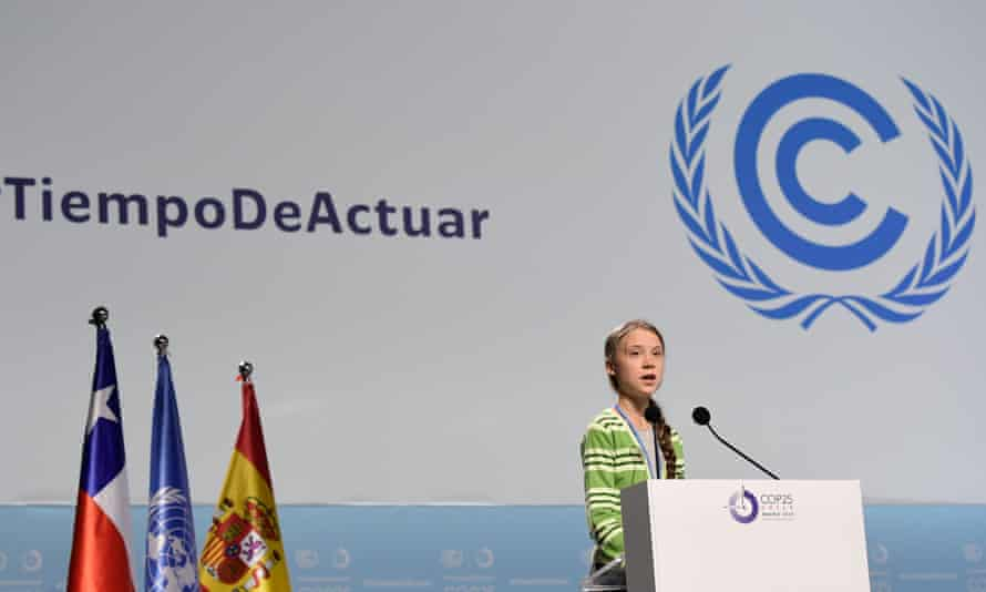 Greta Thunberg speaks at the UN climate change conference in Madrid