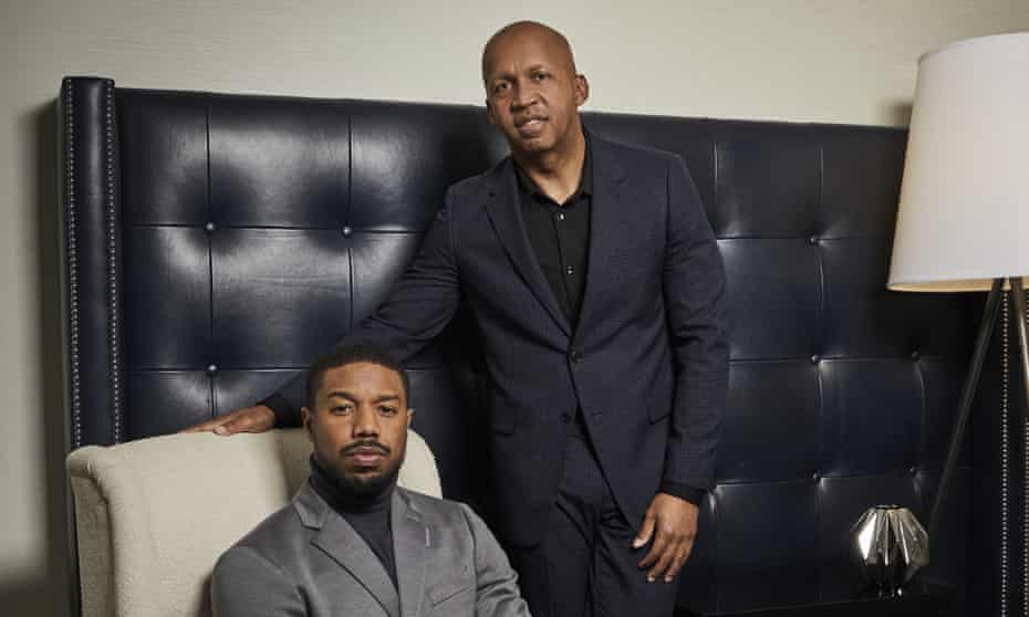 The civil rights lawyer Bryan Stevenson with Michael B Jordan, left, who plays him in the film Just Mercy.