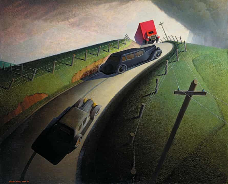 Death on the Ridge Road, 1935 by Grant Wood.