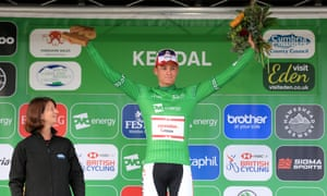 Mathieu van der Poel took the green jersey after an explosive uphill in Kendal.