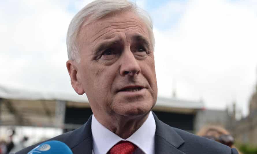 The shadow chancellor, John McDonnell