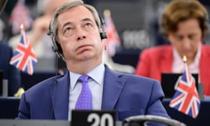 Nigel Farage during speeches at the European parliament in Strasbourg.