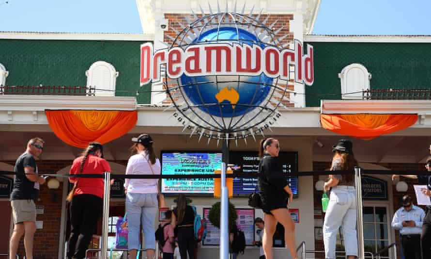 Patrons enter Dreamworld
