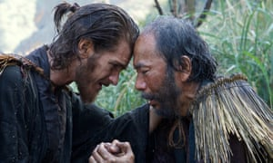 Garfield with Shinya Tsukamoto in Martin Scorsese's new film Silence