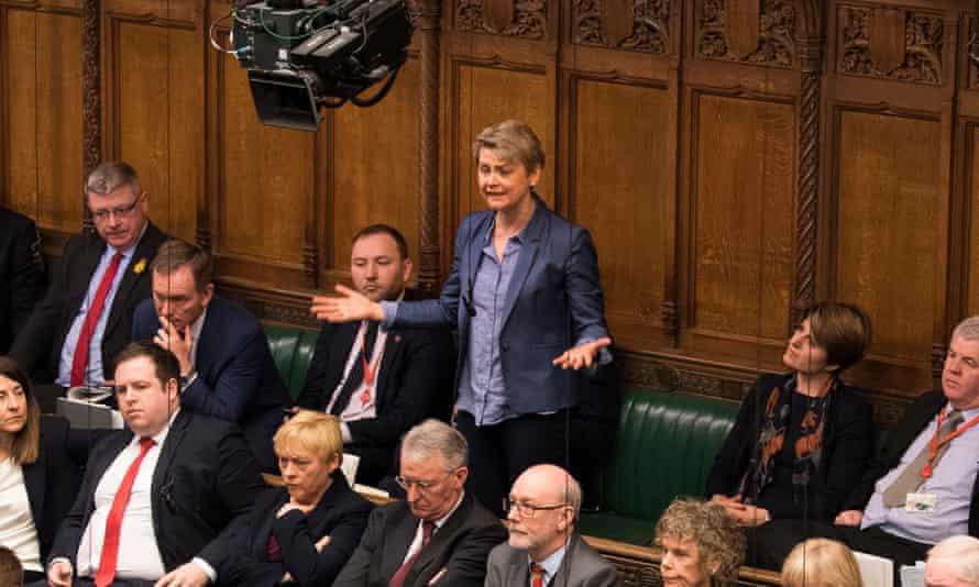 Yvette Cooper in parliament