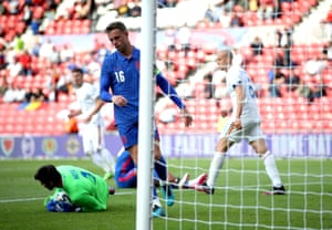 England's Jordan Henderson appears dejected after his penalty is saved.
