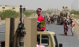 Yemeni pro-government forces near Hodeidah.