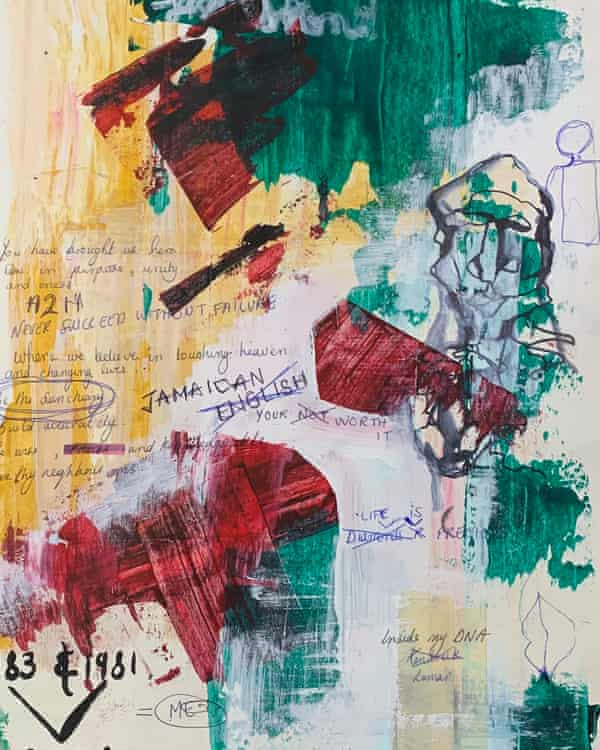 A page from Josiah's art sketchbook