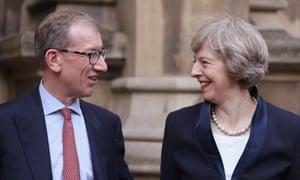 Theresa May with her husband, Philip John May.