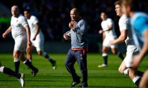 England's head coach, Eddie Jones, during training