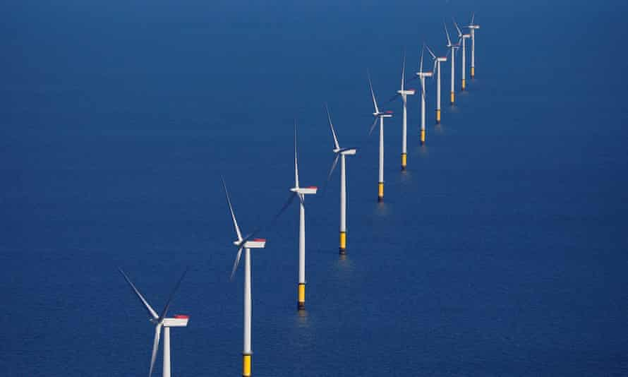 The foreign policy review pointed to £12bn of spending in projects such as offshore wind power.