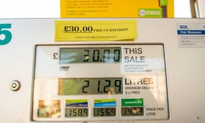 At a BP garage in Slough, customers were limited to purchasing only £30 of petrol and no diesel was available.