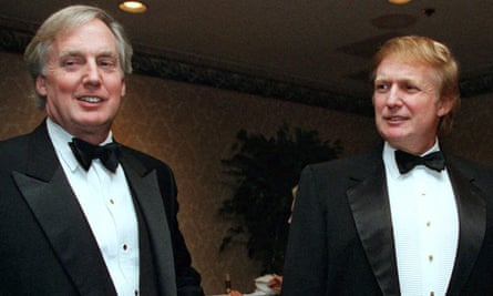 Robert Trump, left, at an event with his older brother Donald Trump in New York in 1999