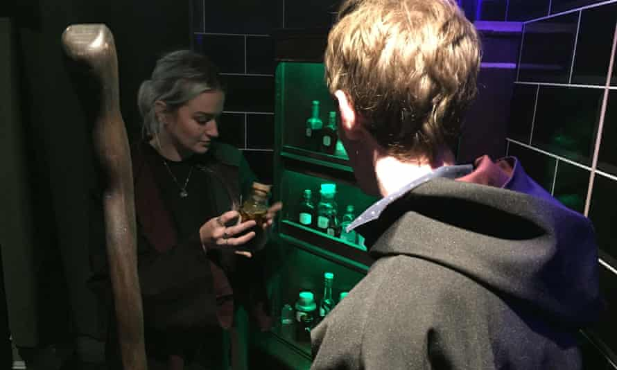 Two team members playing Prophecies Quest Game, Department of Magic, Edinburgh