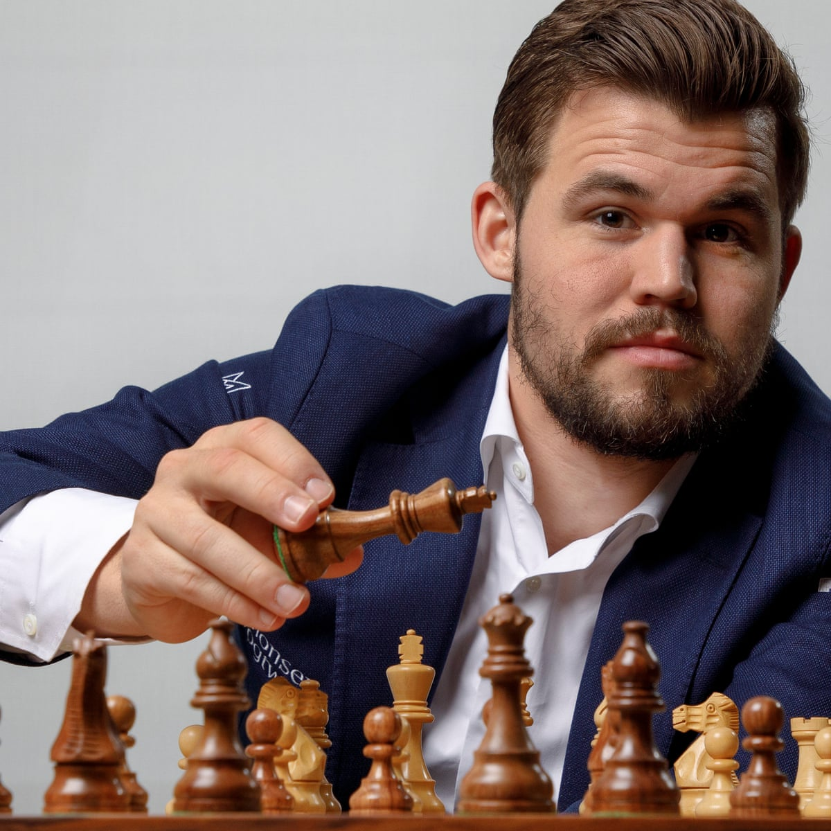 Magnus Carlsen: 'You need to be very fortunate to be No 1 in fantasy football'   Magnus Carlsen   The Guardian