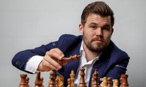 The Norwegian world chess champion, Magnus Carlsen