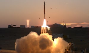 A test firing of the David's Sling missile defence system in Israel.