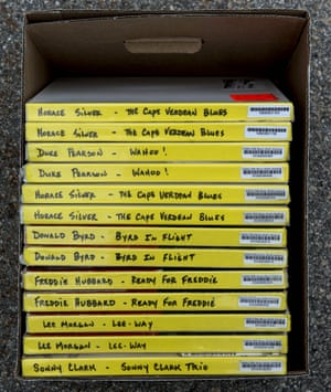 A box containing the original master tapes of various artists on Blue Note Records at Cohearent.
