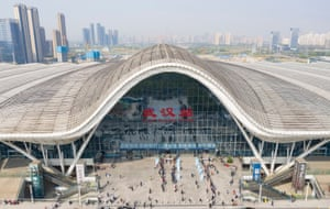 Wuhan station, one of the city's three main railway stations