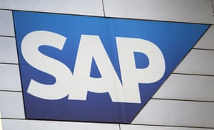 The logo of German software and cloud computing giant SAP