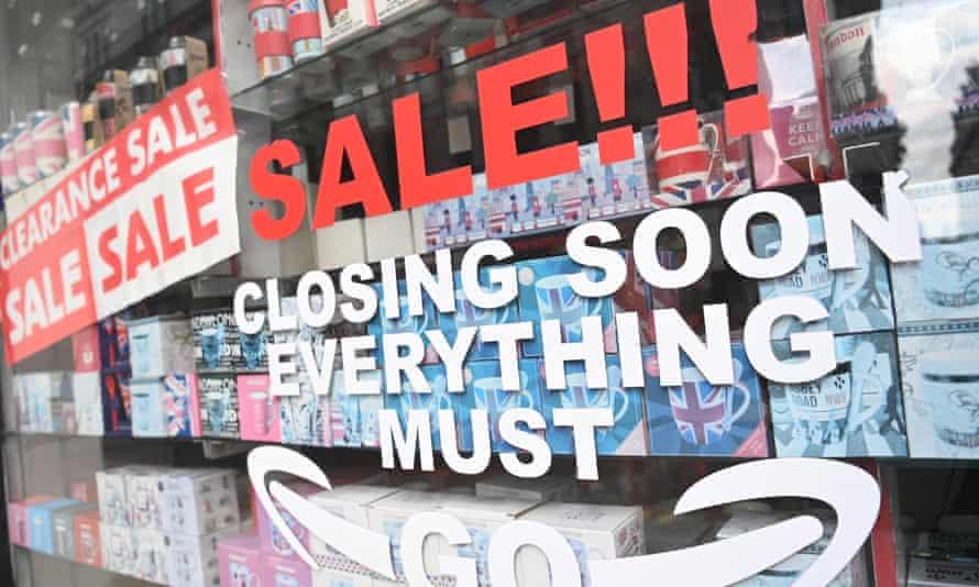 Shop window sales
