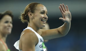 Jessica Ennis competes in the heptathlon 800m