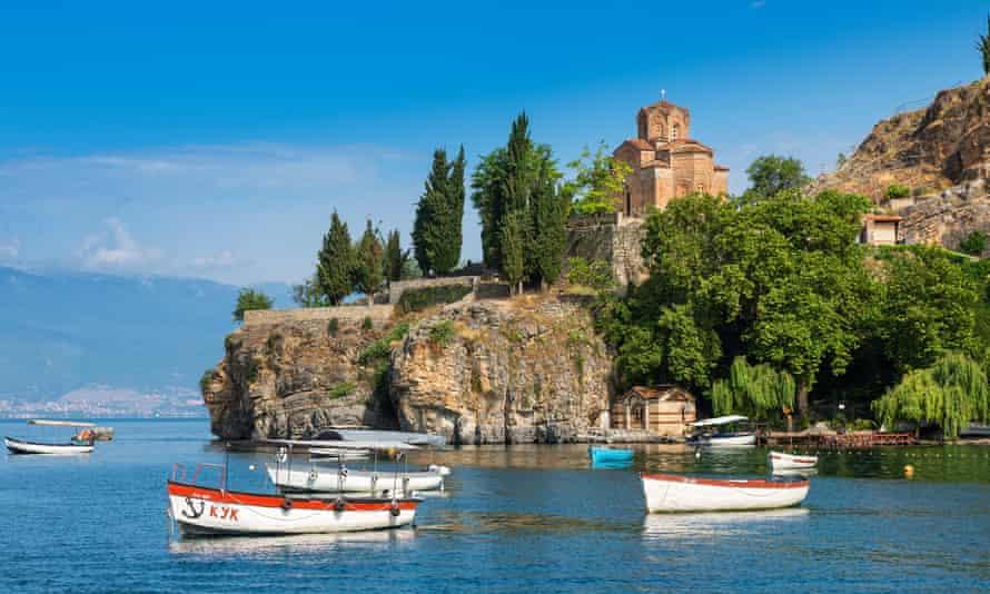 The church of St John of Kaneo on Lake Ohrid.