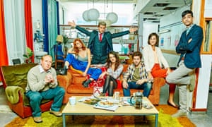 The cast of Crashing, described as the comic voice of generation rent.