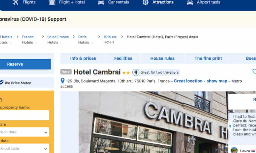 Hotel Cambrai, Paris closed months ago but is still appearing on some websites.