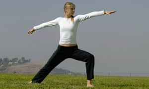 Maria Sharapova practising her yoga moves
