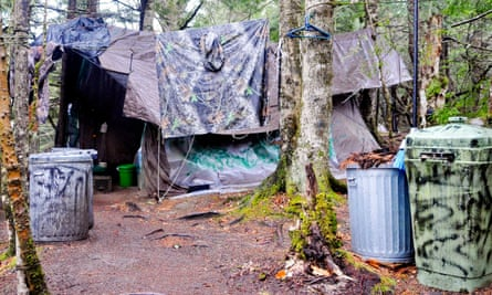 Christopher Knight's makeshift camp in Rome, Maine.