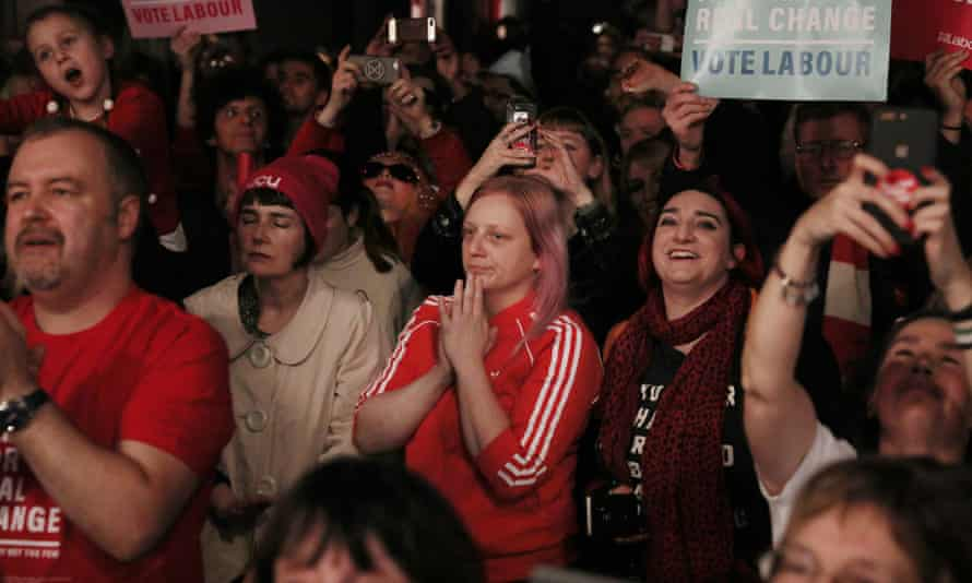 Labour supporters at a campaign rally in London, December 2019