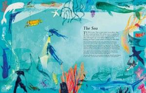 The Sea: Exploring our blue planet by Miranda Krestovnikoff (author) and Jill Calder (illustrator).