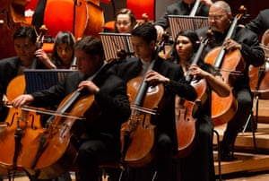 The Symphony Orchestra of India performing at Symphony Hall in Birmingham.