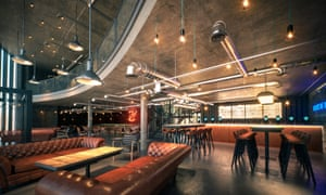Design for the bar area at the BrewDog hotel, Scotland.