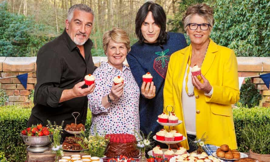 Judges and presenters for Channel 4's The Great British Bake Off, from left to right, Paul Hollywood, Sandi Toksvig, Noel Fielding and Prue Leith