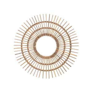 Toba rattan mirror, £94, artisanti.com