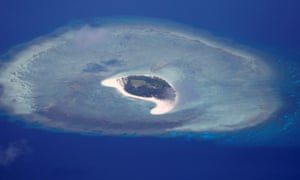 An island in the Spratlys chain in the South China Sea, where Mike Pence says the US will 'not stand down'.