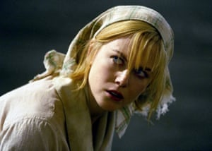 Kidman as Grace Margaret Mulligan in Lars von Trier's Dogville (2003).